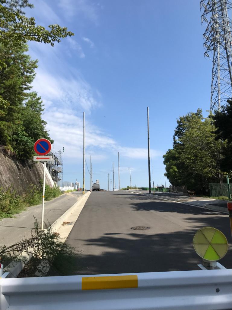 新設道路 工事進捗状況(カネスエ側、諸の木側)