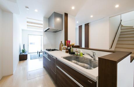 ブラザー不動産のキッチン周りに力を入れる設計