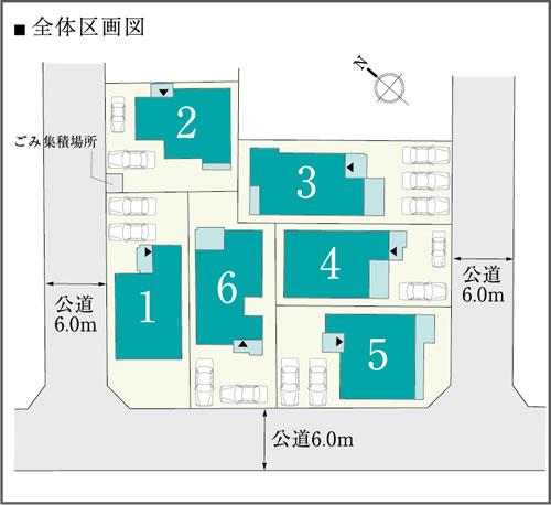 東郷三ツ池第2次 土地付分譲住宅 販売区画図