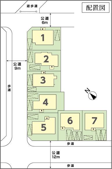 鎌倉台第18次 土地付分譲住宅 販売区画図