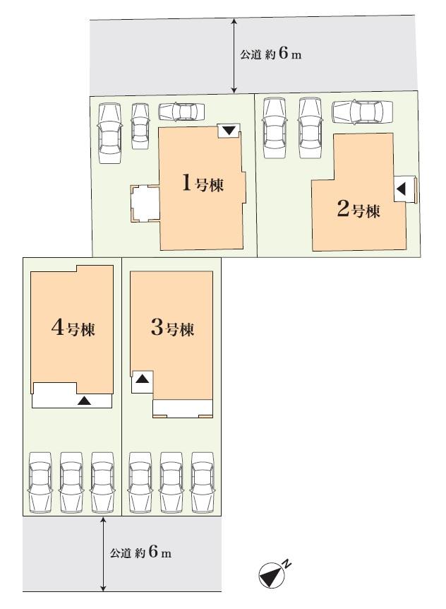 東郷三ツ池第3次 土地付分譲住宅 販売区画図