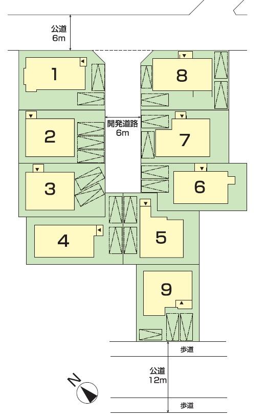 鎌倉台第19次 土地付分譲住宅 販売区画図