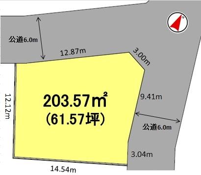 建築条件付土地分譲 鳴丘三丁目 販売区画図
