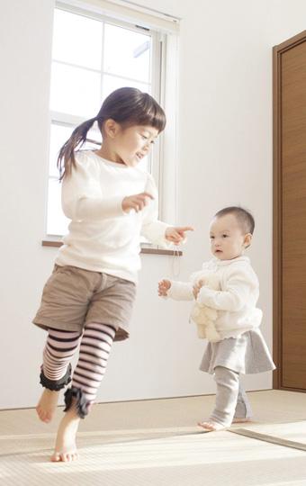 和室には、お子様のおもちゃもしまえる1.5畳の広々収納
