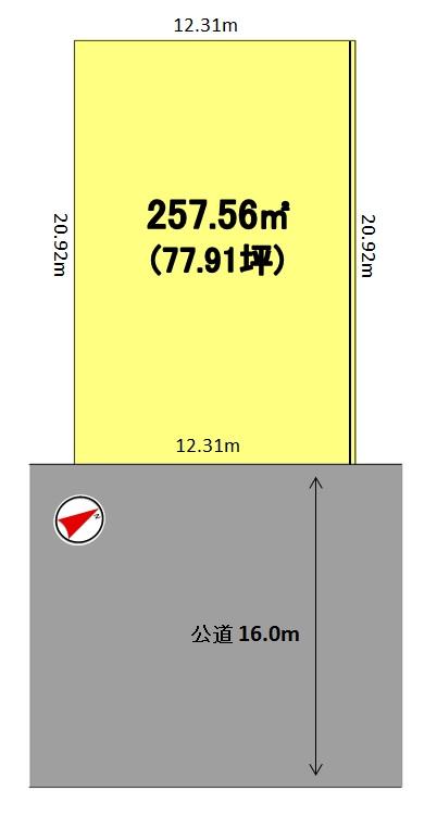 建築条件付土地分譲 鶴が沢二丁目 販売区画図