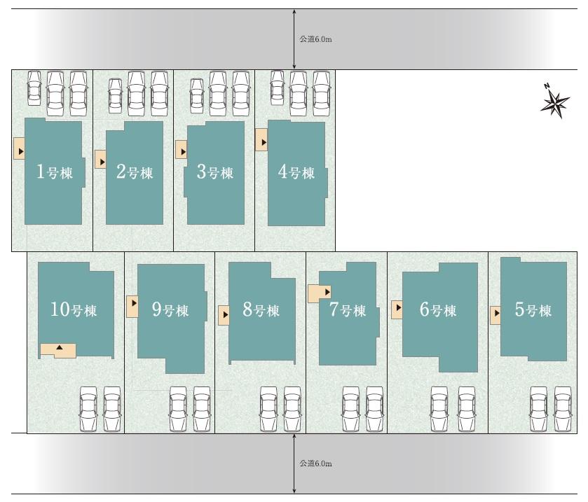 GROWING TOWN 徳重 土地付分譲住宅 販売区画図