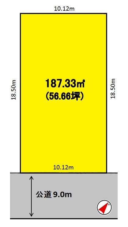 建築条件付土地分譲 八ツ松一丁目 販売区画図