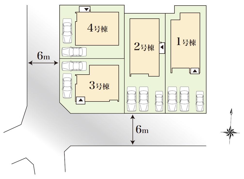 みどり藤塚第21次 土地付分譲住宅 販売区画図