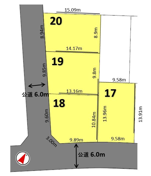建築条件付土地分譲 諸の木二丁目 販売区画図