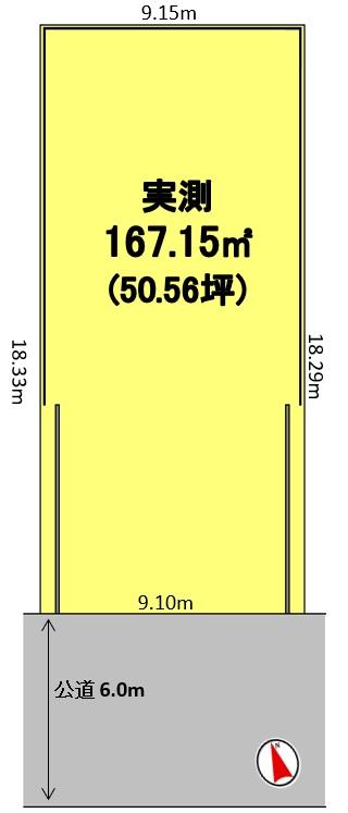 建築条件付土地分譲 鳴丘二丁目 販売区画図