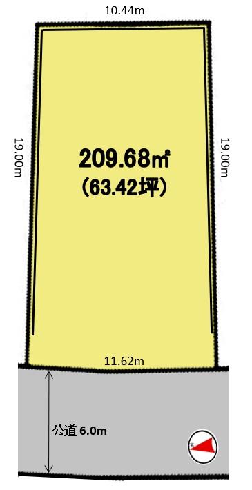 建築条件付土地分譲 徳重三丁目 販売区画図