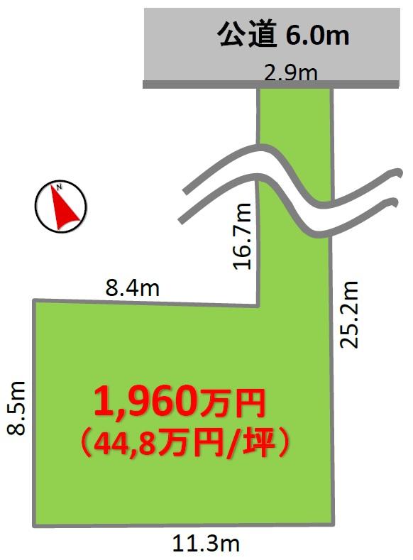 売土地 鶴が沢二丁目 販売区画図