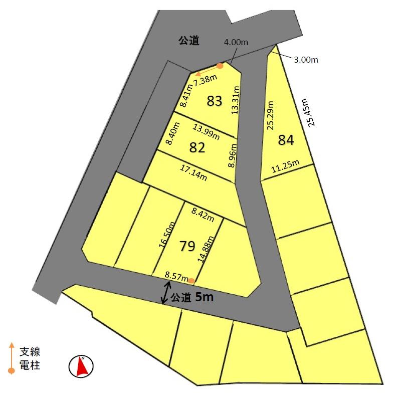 売土地 知立市新林町新林 販売区画図